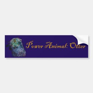 Power Animal Otter Bumper Sticker