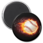 Power Baseball 6 Cm Round Magnet