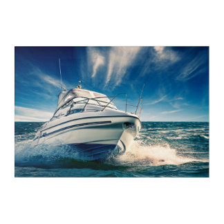 Power Boat Coming Into Chichester Harbour Acrylic Print