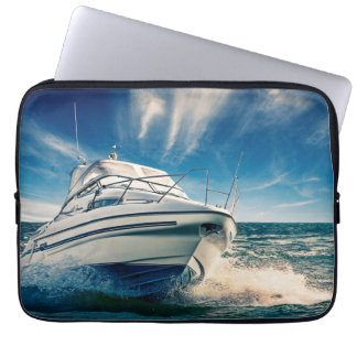 Power Boat Coming Into Chichester Harbour Laptop Sleeve