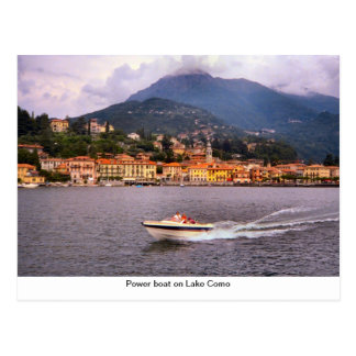 Power boat on Lake Como Postcard