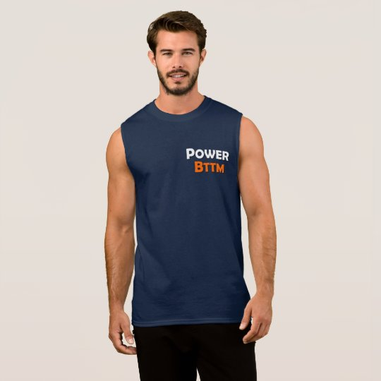 Power Bottom Gay Men's Sleeveless T-Shirt