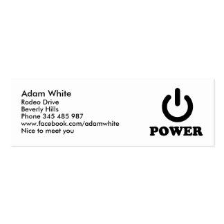 Power Business Card Templates