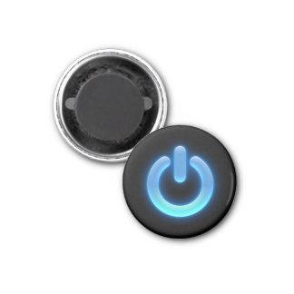 Power Button (Blue) 3 Cm Round Magnet