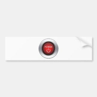 Power Button Car Bumper Sticker