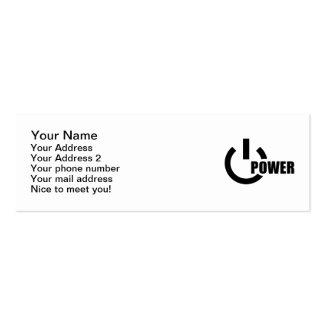 Power Button Business Card Templates