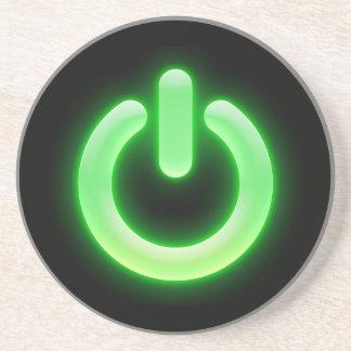 Power Button (Green) Coaster