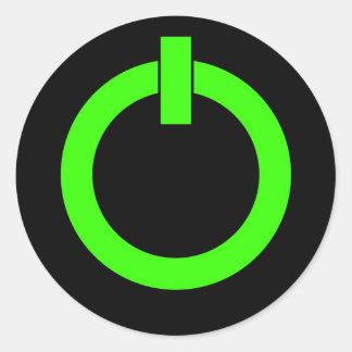 Power Button Round Stickers