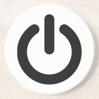 Power Button Symbol Coasters