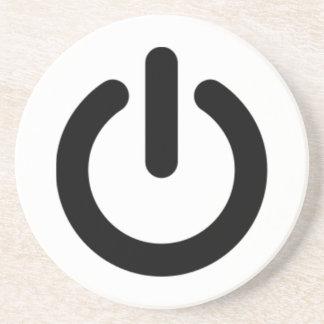 Power Button Symbol Coaster