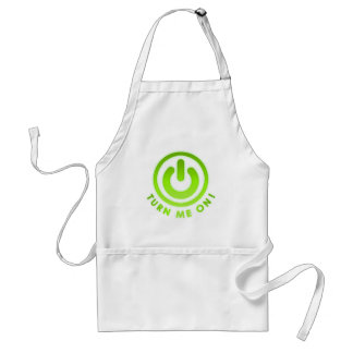 Power Button - Turn Me on Aprons