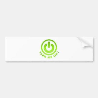 Power Button - Turn Me on Car Bumper Sticker