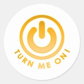 Power Button - Turn Me on Round Sticker