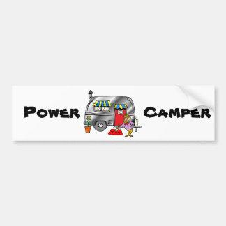 Power Camper Bumper Sticker
