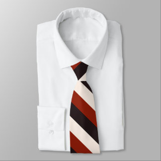 Power Casual Red Black White Stripe Tie
