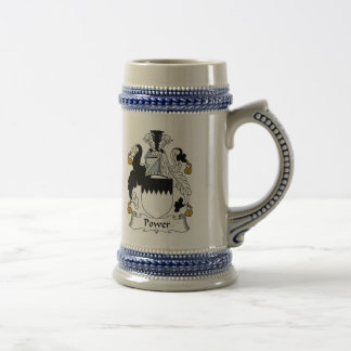 Power Coat of Arms Stein - Family Crest Beer Steins