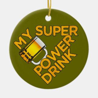 Power Drink custom ornament