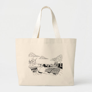 Power Energy Generation Sources Large Tote Bag