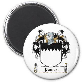 Power Family Crest 6 Cm Round Magnet
