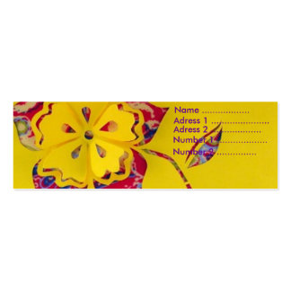 Power flower pack of skinny business cards