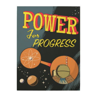 Power For Progress vintage Atomic poster