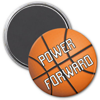 Power Forward Basketball 7.5 Cm Round Magnet