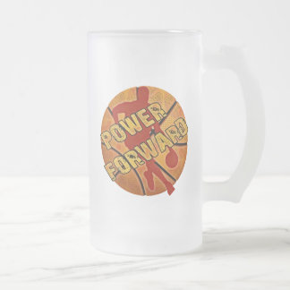 Power Forward Basketball Frosted Glass Mug