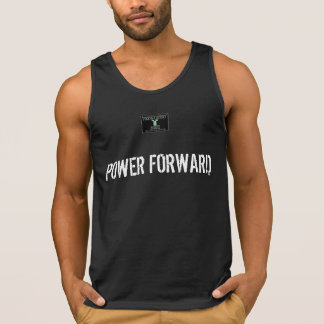 POWER FORWARD in black Tanktops