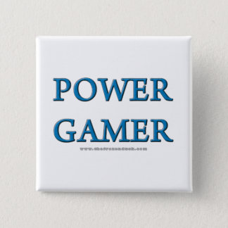 Power Gamer 15 Cm Square Badge