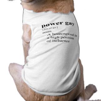 POWER GAY DOG T-SHIRT
