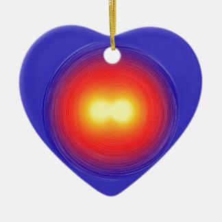 Power Globe Ceramic Heart Decoration