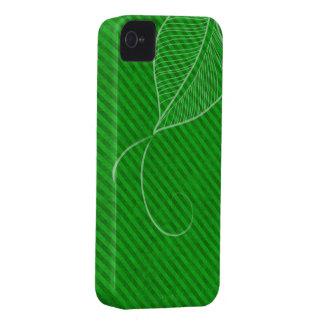 Power Green Diagonal Leaf iPhone4 Case iPhone 4 Case-Mate Case