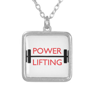 Power Lifting Square Pendant Necklace