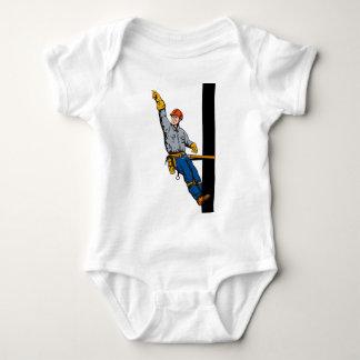 Power Lineman Electrician Electric Worker Baby Bodysuit