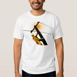 Power Lineman Electrician Worker T-shirts