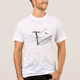 power LINES and Bird T-Shirt
