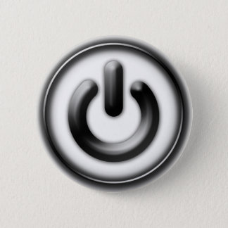 Power: Monochrome (white) 6 Cm Round Badge
