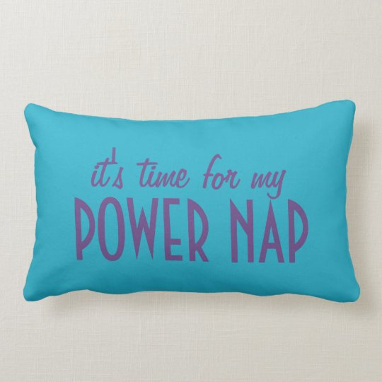 POWER NAP custom color & name throw pillow