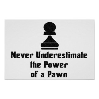 Power of a Pawn Poster