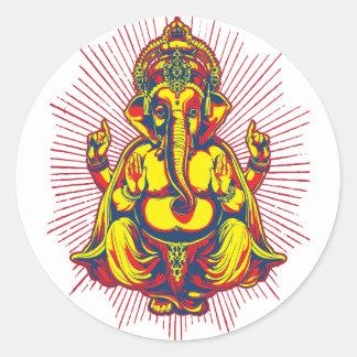 Power of Ganesh Round Sticker