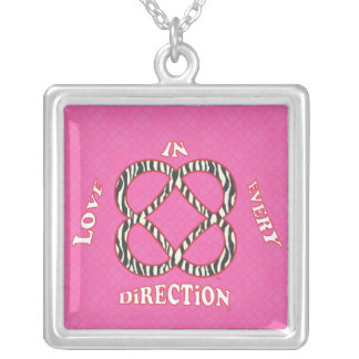 Power of Infinite Goodness Necklace.ai Square Pendant Necklace