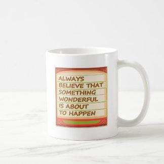 Power of intention n positive thinking basic white mug
