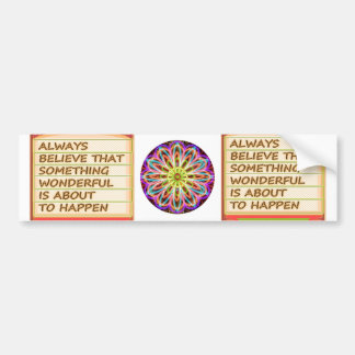 Power of intention n positive thinking bumper sticker
