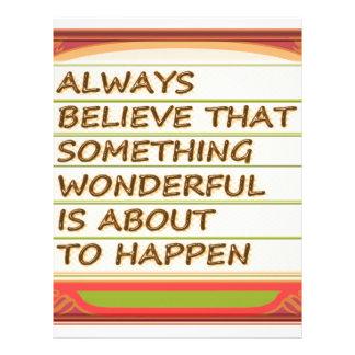 Power of intention n positive thinking custom letterhead