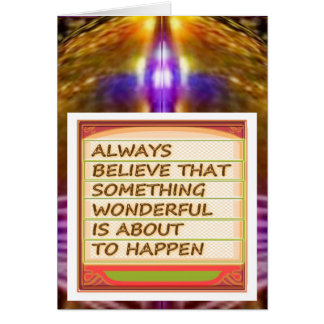 Power of intention n positive thinking greeting card
