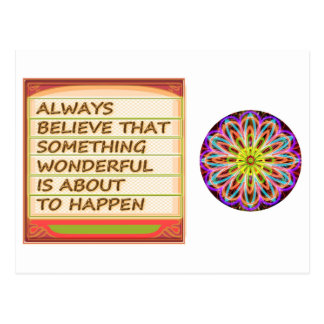 Power of intention n positive thinking postcard
