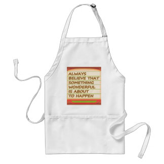Power of intention n positive thinking standard apron