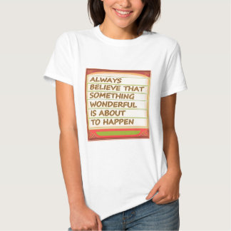 Power of intention n positive thinking tee shirt