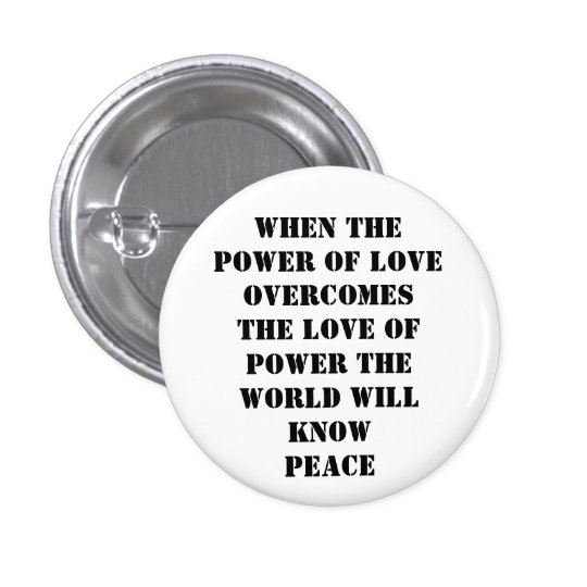 power of love 3 cm round badge
