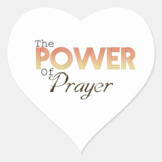 Power of Prayer Heart Sticker